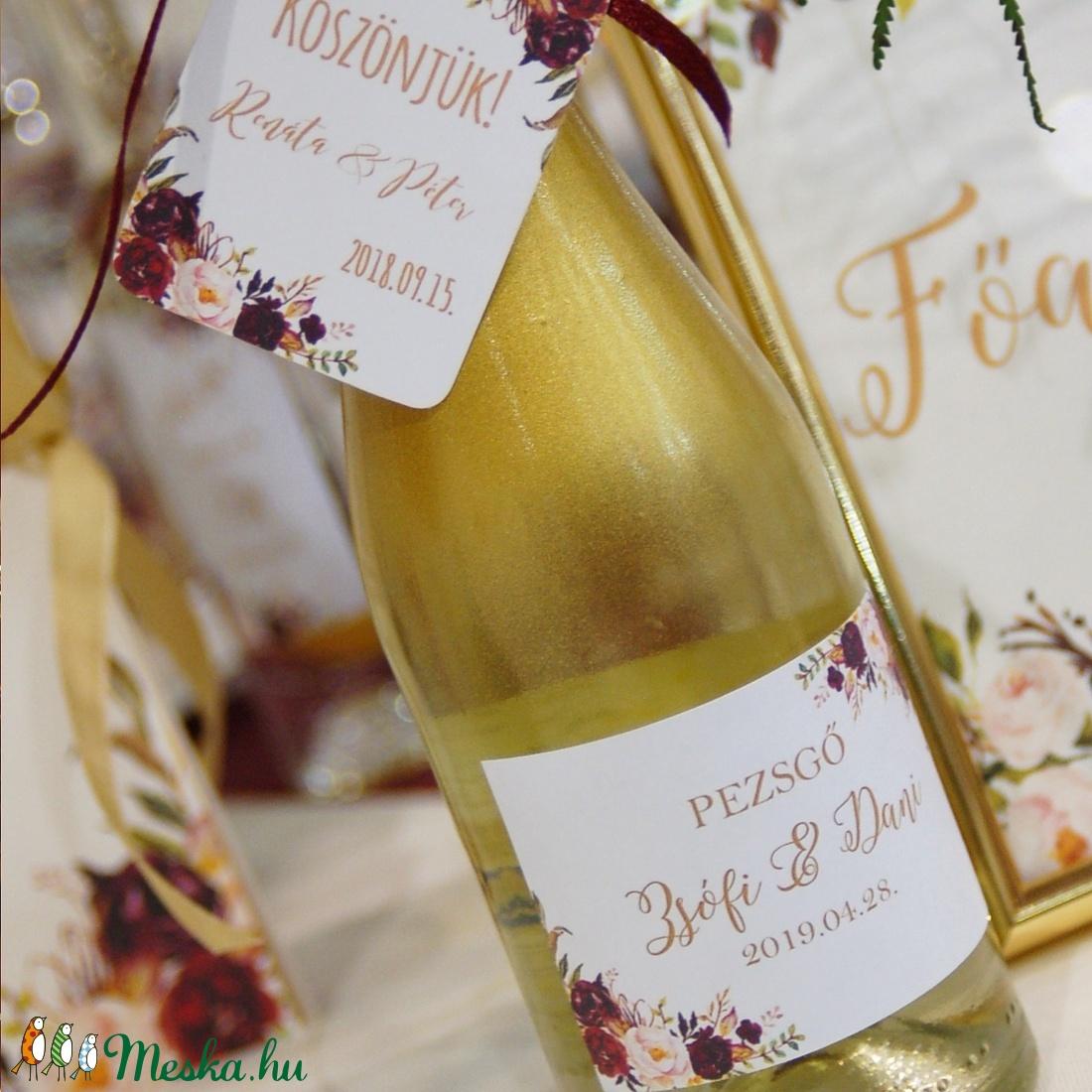 Matrica, pálinkás matrica, dzsem, jam, pálinka, bor, borosmatrica, felirat, Esküvői dekor, köszönet ajándék - esküvő - emlék & ajándék - köszönőajándék - Meska.hu