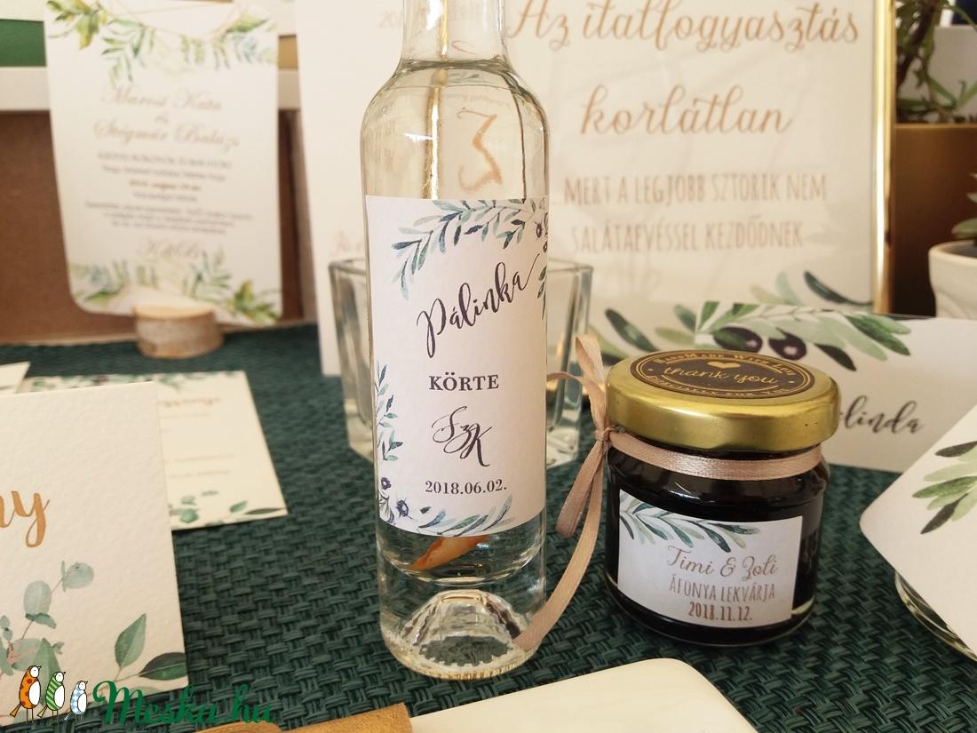 Matrica, pálinkás matrica, címke, felirat dzsem, jam, pálinka, bor, borosmatrica, Esküvői dekor, köszönet ajándék - esküvő - emlék & ajándék - köszönőajándék - Meska.hu