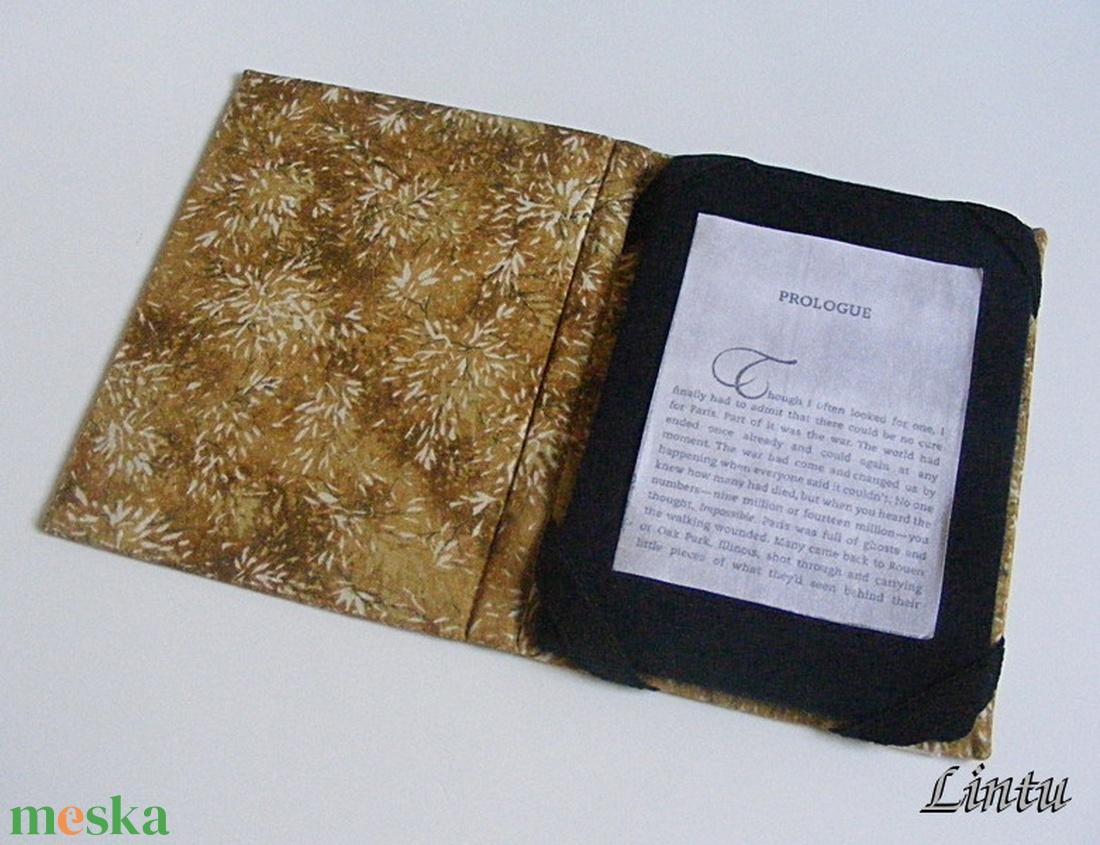 Ebook olvasó kemény tok, apró fehér virágok - táska & tok - laptop & tablettartó - ebook & tablet tok - Meska.hu