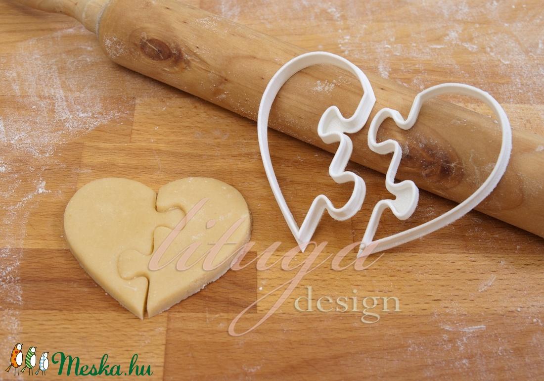 SZÍV PUZZLE süteménykiszúró - Szerelem, szeretet, egyedi esküvői sütemény kiszúró Valentin napra - Meska.hu