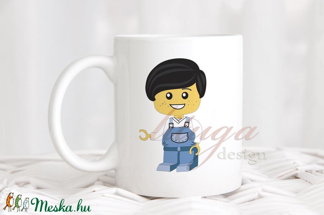 97b032027f Bögre fiúknak (LEGO001) - Névreszólóan, egyedi felirattal kérhető, ajándék  ovis ballagásra