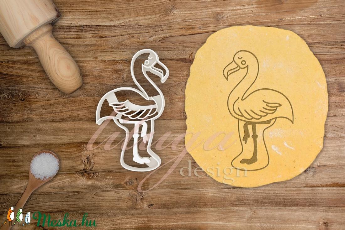 Flamingó süteménykiszúró, trópusi madár süteménykiszúró, mézeskalács forma, keksz, linzer szaggató (lituga) - Meska.hu