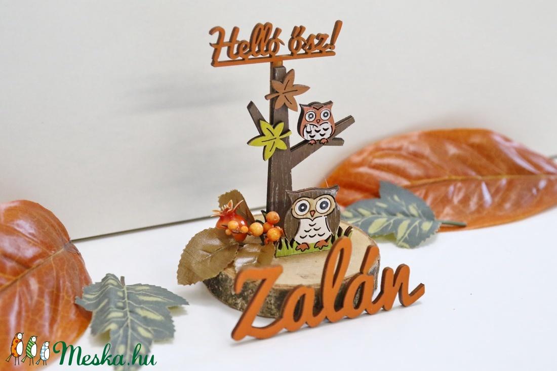 Helló ősz kompozíció - saját névvel - otthon & lakás - dekoráció - asztaldísz - Meska.hu