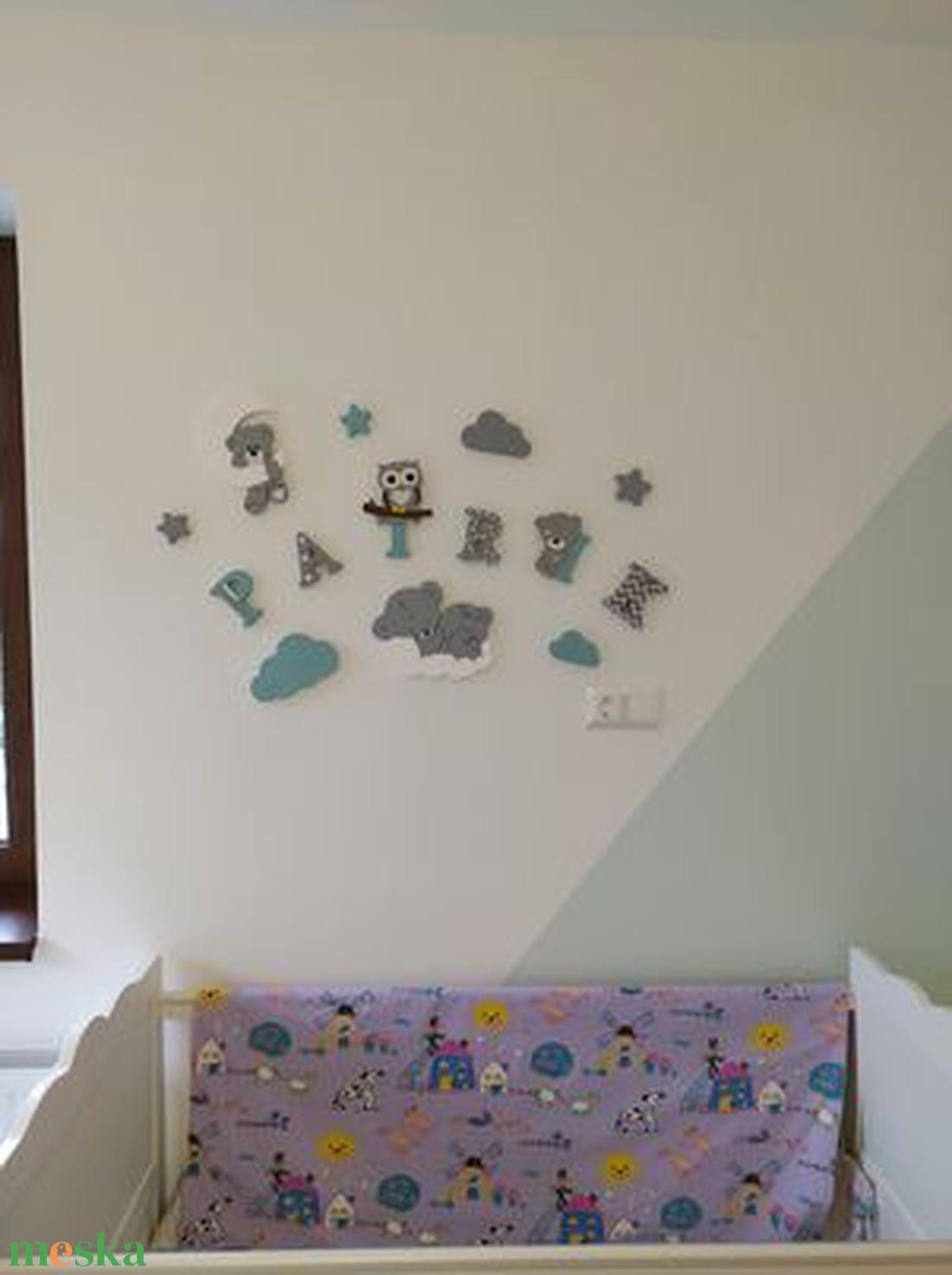 Macis dekorbetű szett menta-szürke -fehér színben,bababetű,név,felirat,dekoráció,babaszoba,gyerekszoba,hungarocell  - otthon & lakás - dekoráció - betű & név - Meska.hu