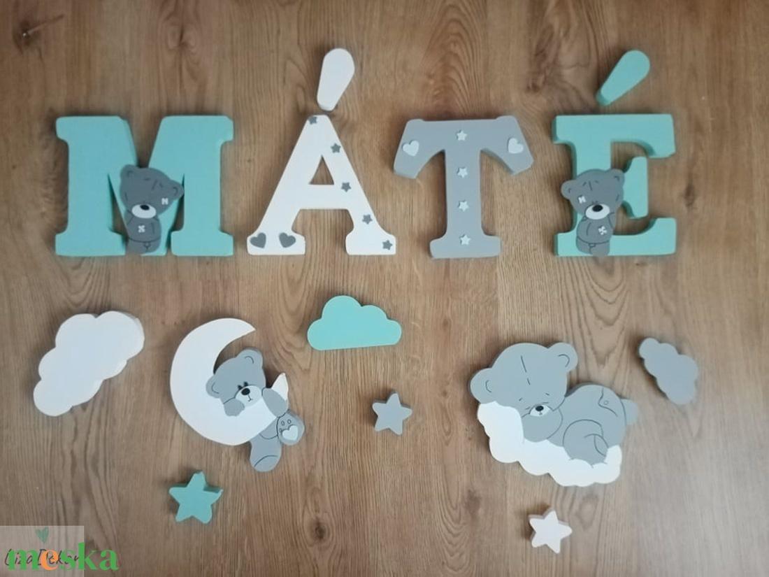 Macis dekorbetű szett menta-fehér színben,baba betű, név, felirat, 3D,dekoráció,babaszoba,gyerekszoba,hungarocell  - otthon & lakás - dekoráció - betű & név - Meska.hu