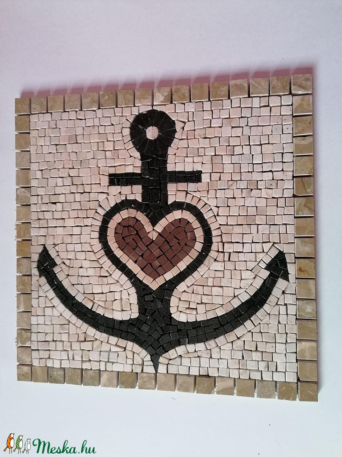 Horgony mozaik kép (LLMarvanyos) - Meska.hu