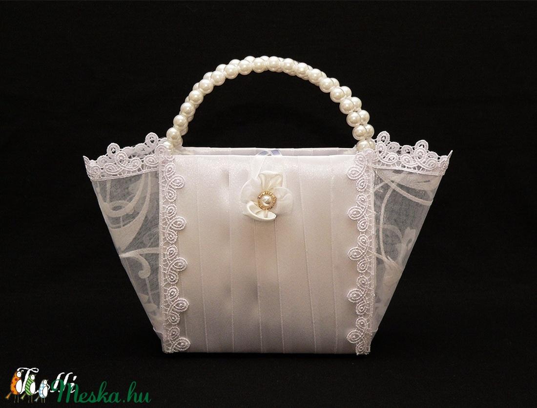 Hófehér menyasszonyi kistáska (Lolli) - Meska.hu