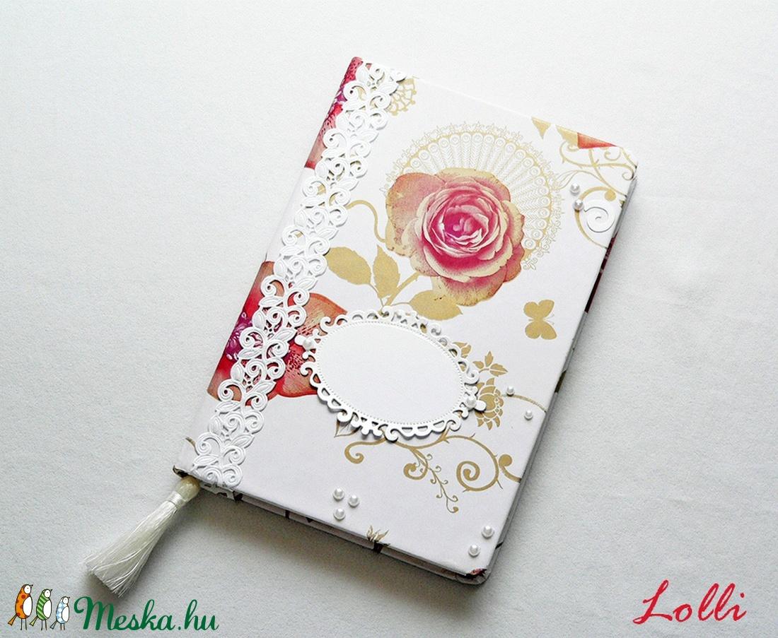 Rózsás esküvői vendégkönyv (Lolli) - Meska.hu
