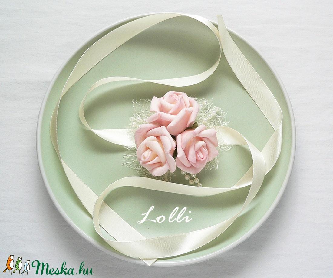 Rózsaszín csuklódísz (Lolli) - Meska.hu