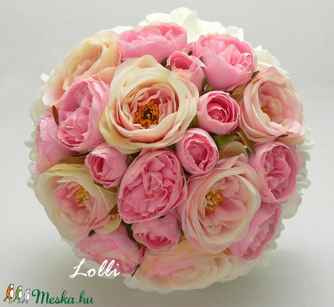 Pink -Rózsaszín menyasszonyi örökcsokor (Lolli) - Meska.hu