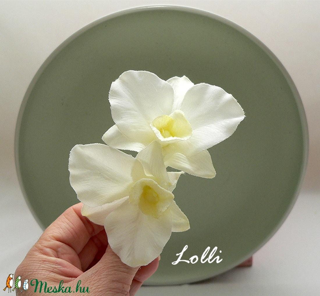 Dupla orchideás fejdísz (Lolli) - Meska.hu
