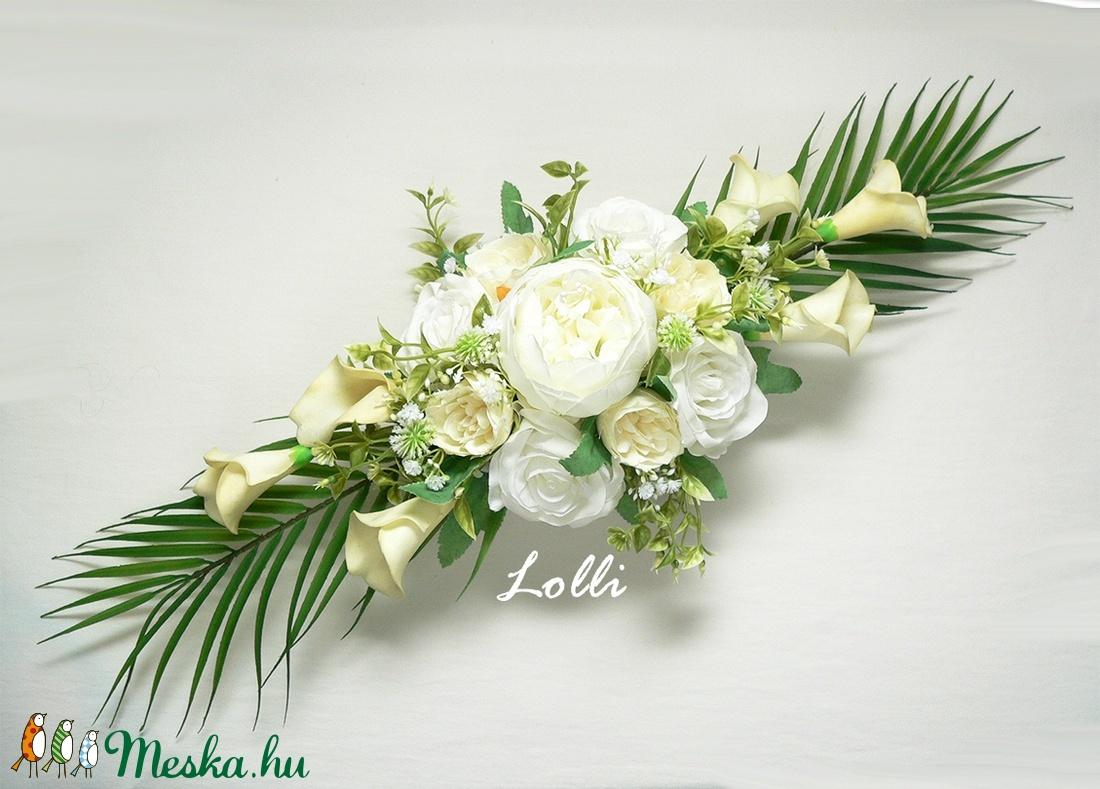 Ekrü kálás esküvői főasztaldísz (Lolli) - Meska.hu