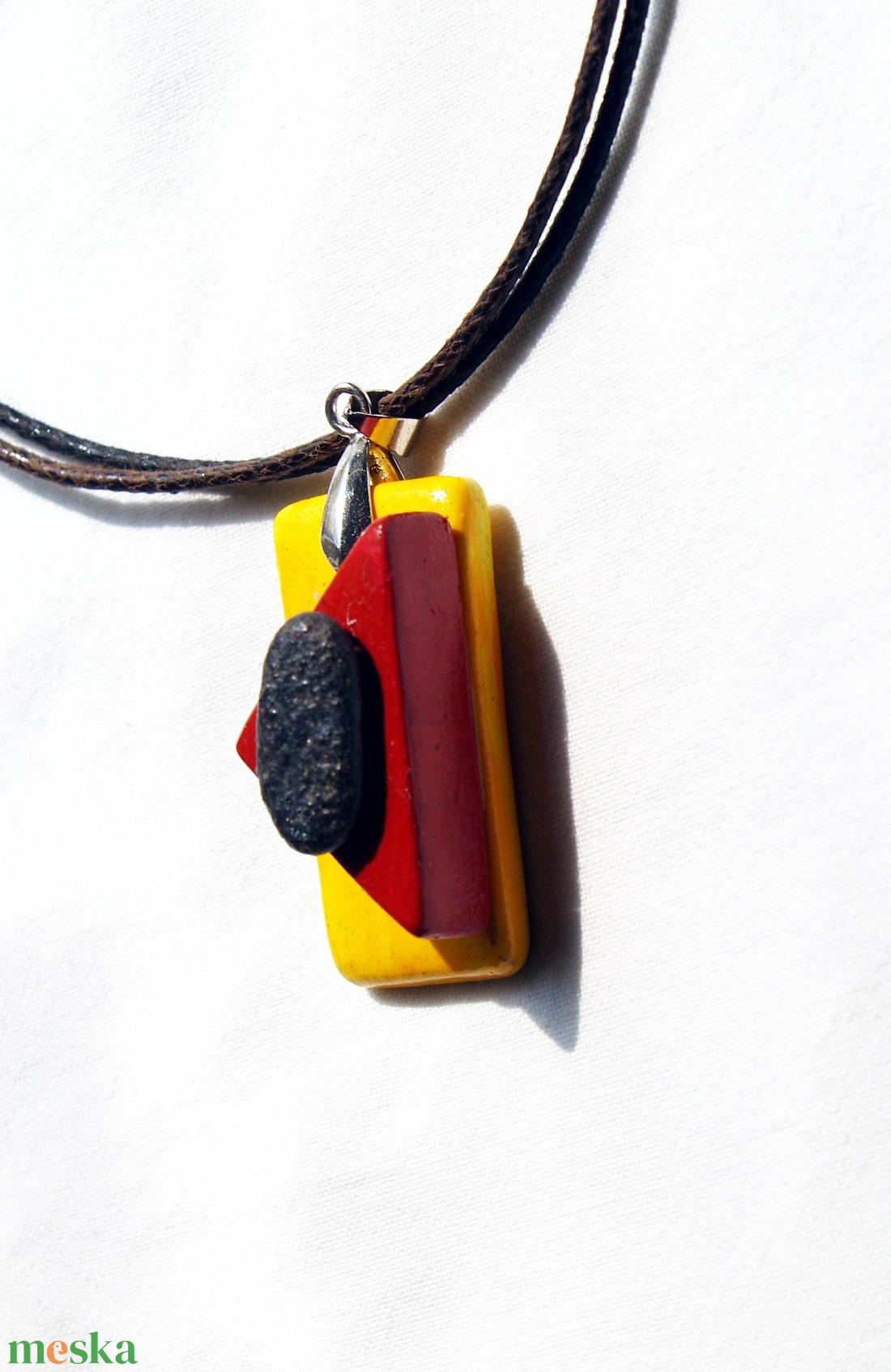 Tiszai kaviccsal készült kerámia ékszer - nyaklánc Akció! 2 db áráért 3 db    - ékszer - nyaklánc - medálos nyaklánc - Meska.hu