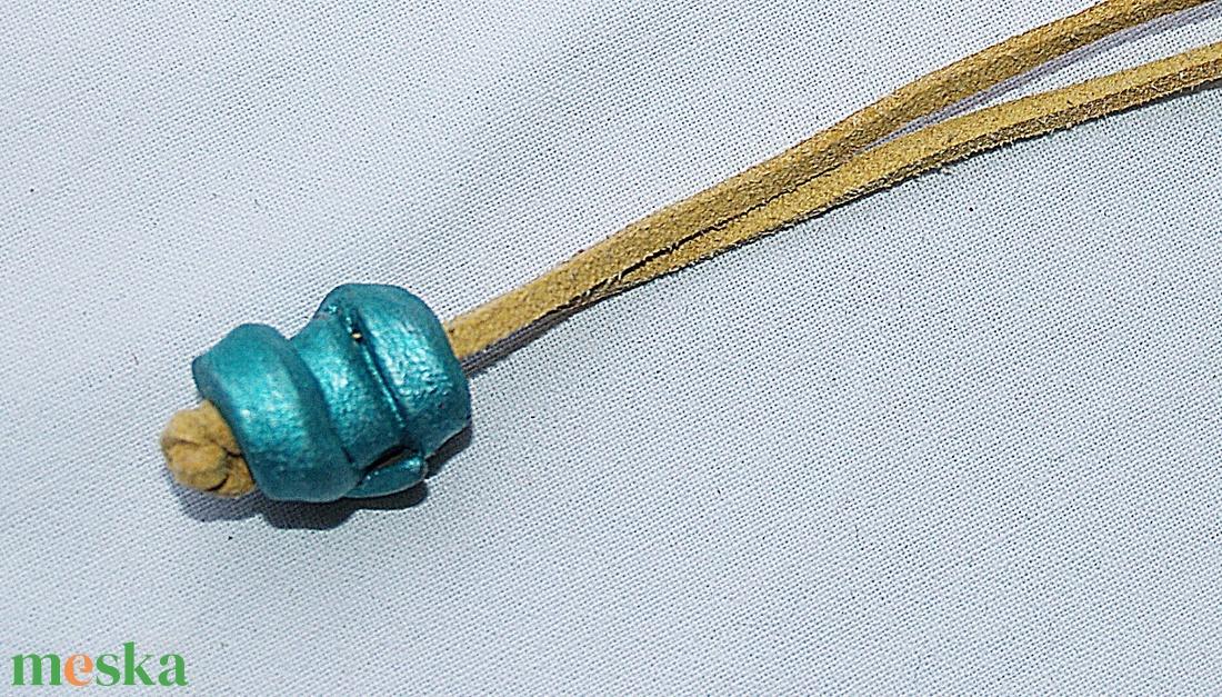 Metál zöld nyaklánc  Akció! 2 db áráért 3 db - ékszer - nyaklánc - medálos nyaklánc - Meska.hu
