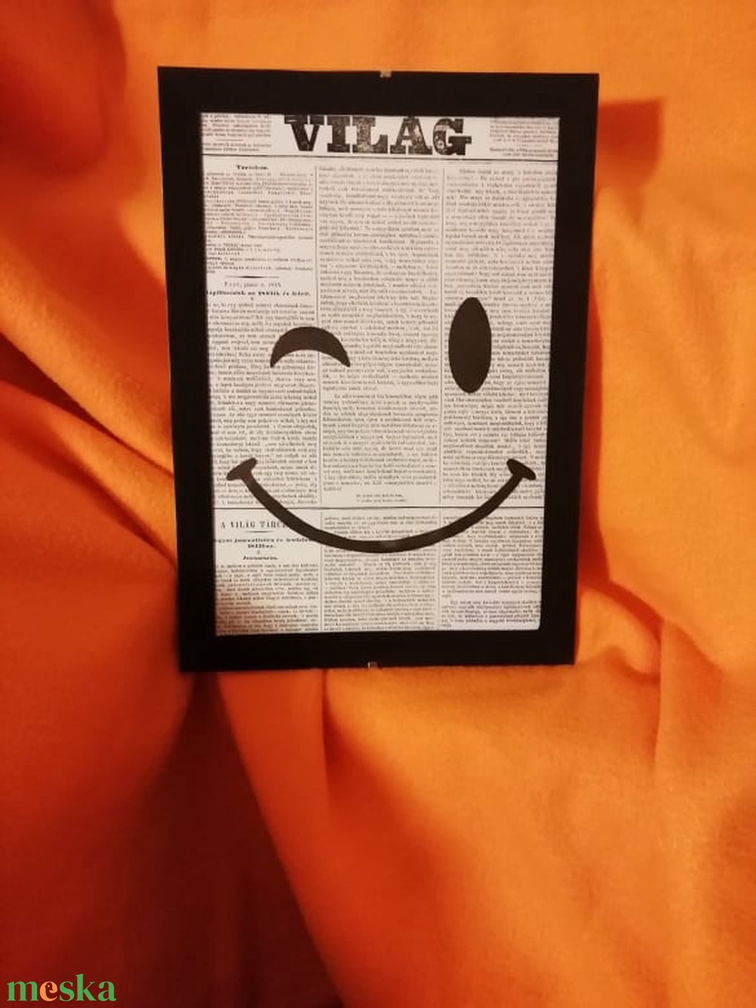 SMILE / FALI KÉP (A/4-es méretű) - Meska.hu