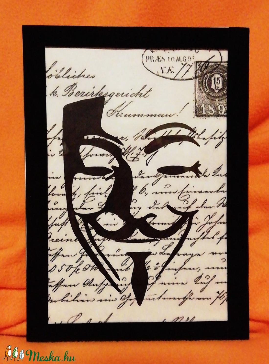 Vendetta Guy Fawkes Scary Party álarc/ FALI KÉP (A/4-es méretű) - Meska.hu