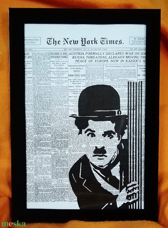 Chaplin / FALI KÉP (A/4-es méretű) - Meska.hu