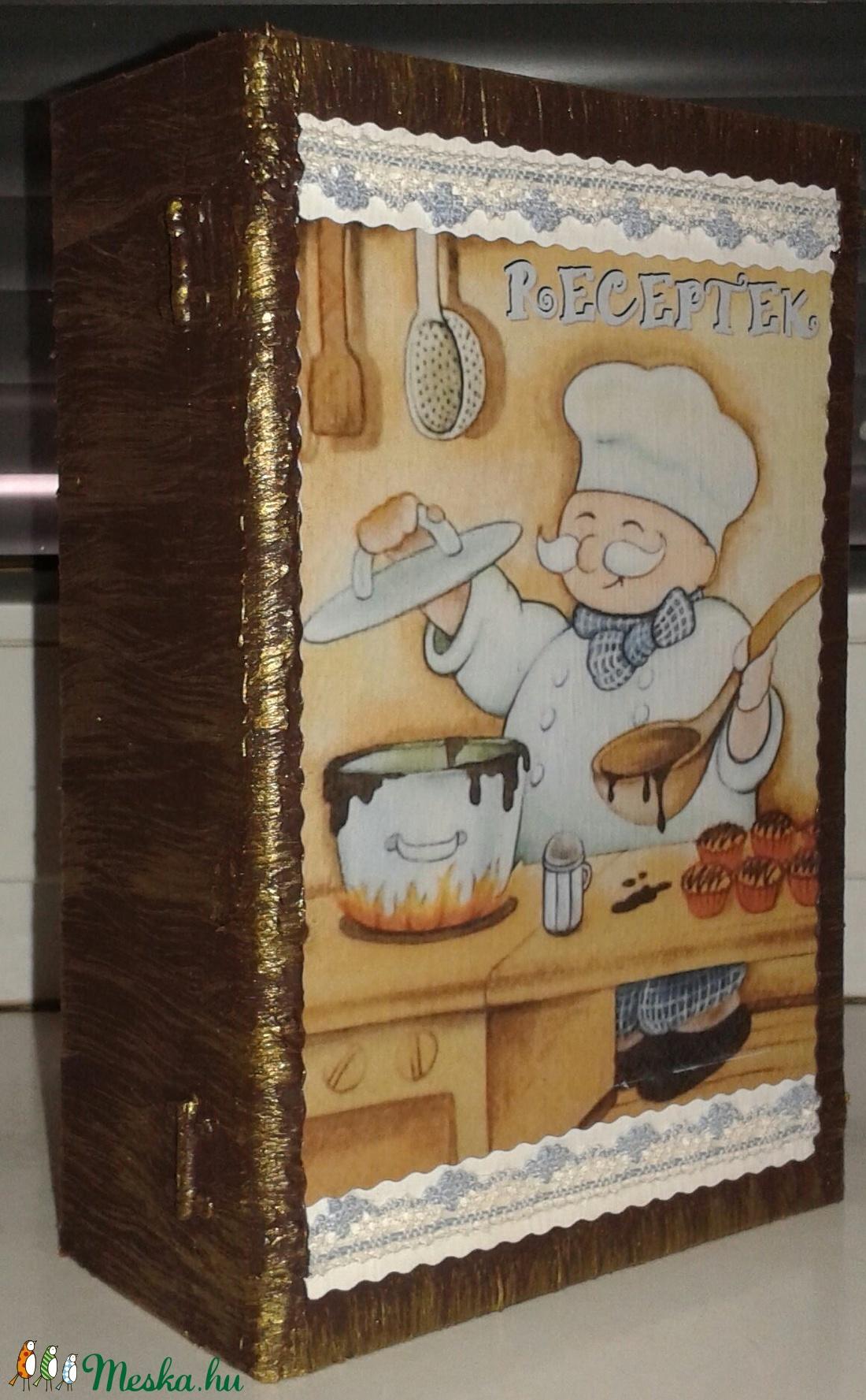 könyv alakú doboz - közepes - recepteknek (luluvi) - Meska.hu