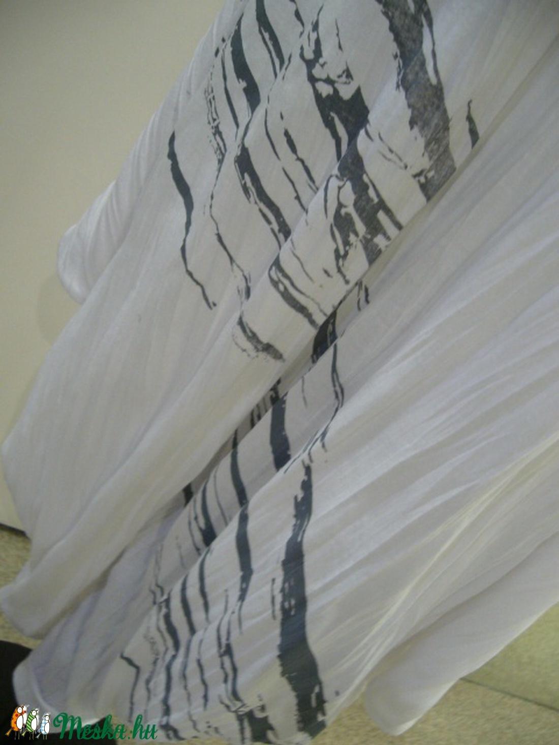 Fehér   szitázott   bő nadrág - ruha & divat - női ruha - nadrág - Meska.hu