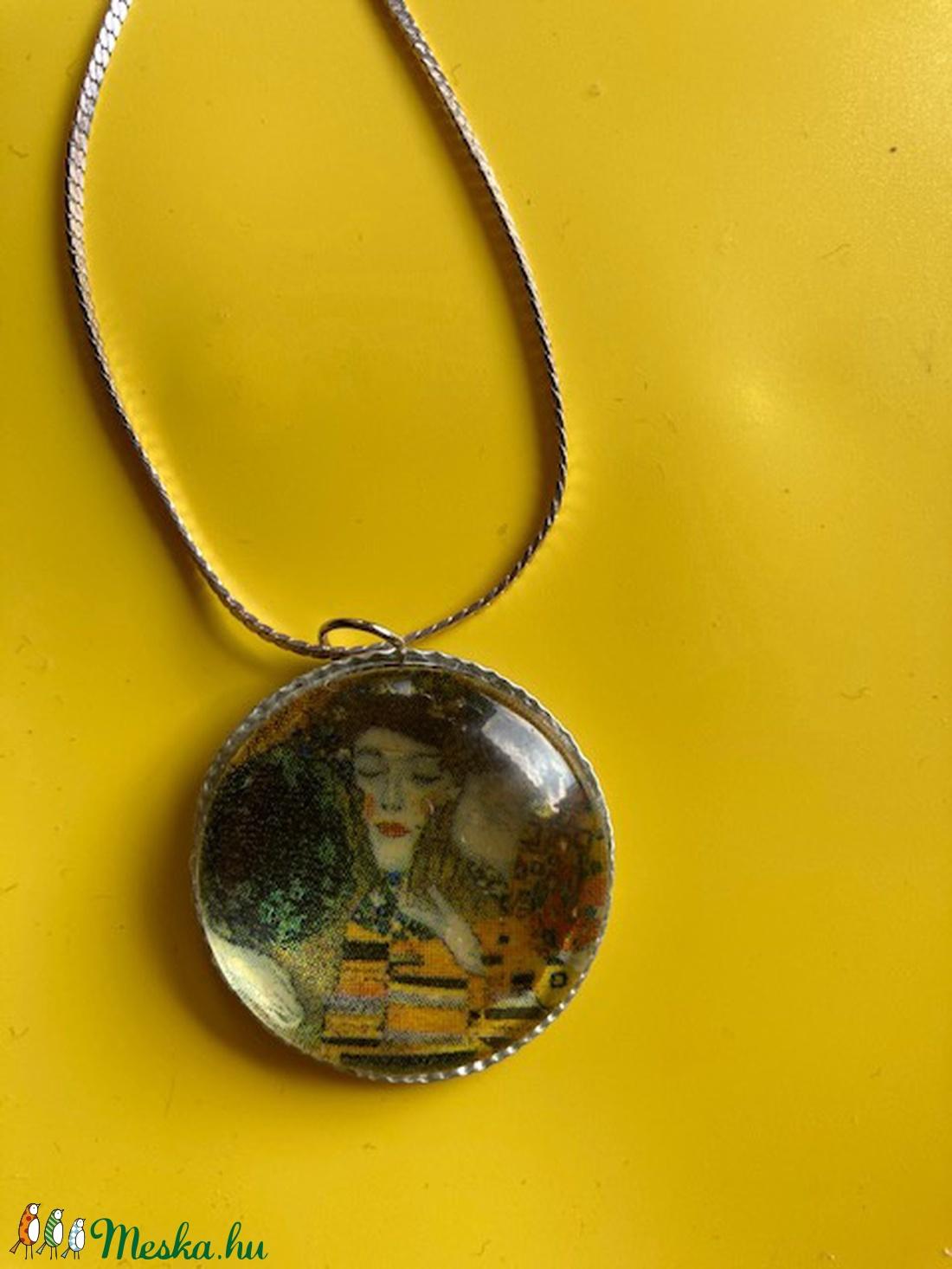 Klimt (A csók) képpel díszített nyaklánc - Meska.hu