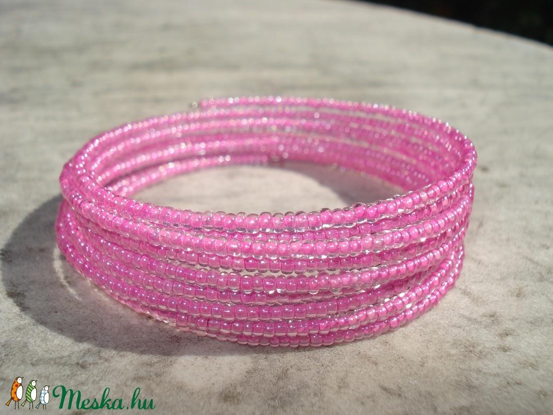 Pont ilyen színű.....pink - karkötő (madaikati) - Meska.hu