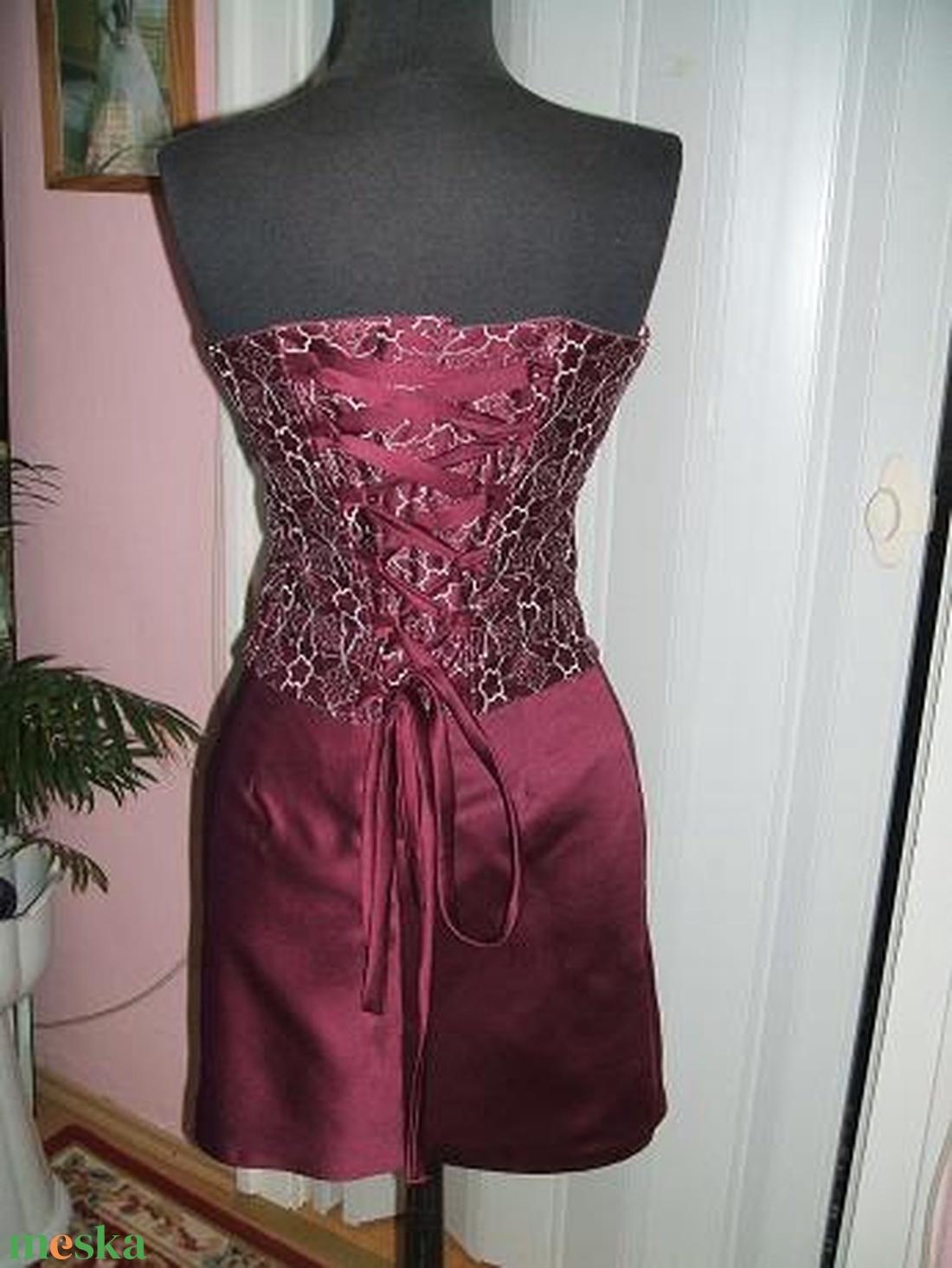 Két részes düssesz, rövid menyecske, alkalmi ruha. - esküvő - ruha - menyecske ruha - Meska.hu