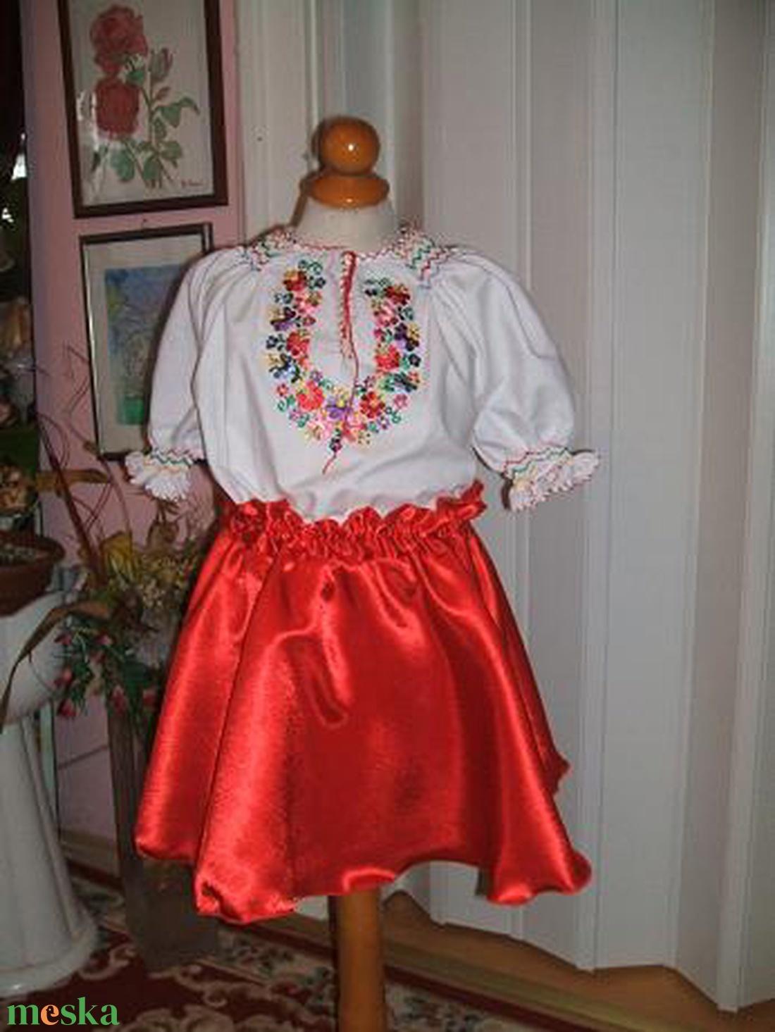 Magyaros, népviseleti lányka ruha. - ruha & divat - babaruha & gyerekruha - ruha - Meska.hu