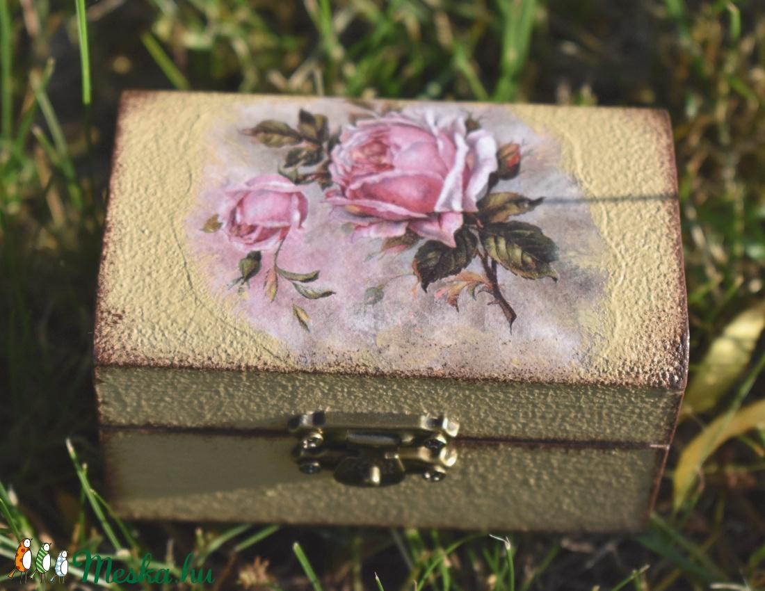 Vintage ékszeres doboz - ékszer - ékszertartó - ékszerdoboz - Meska.hu