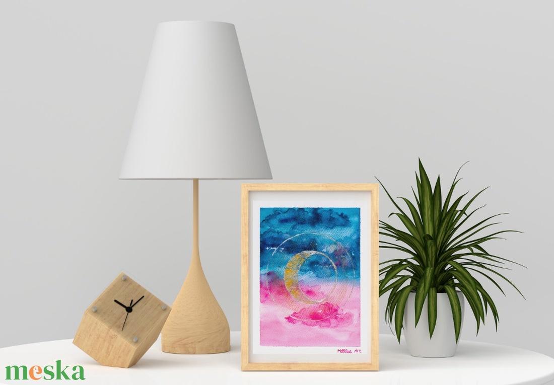 Újhold - akvarell art print - művészet - művészi nyomat - Meska.hu
