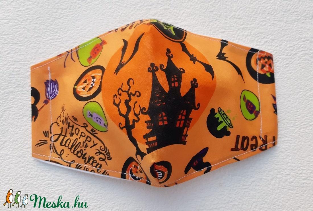 Halloween uniszex nagy méretű maszk, szájmaszk (Malnacskaworkroom) - Meska.hu