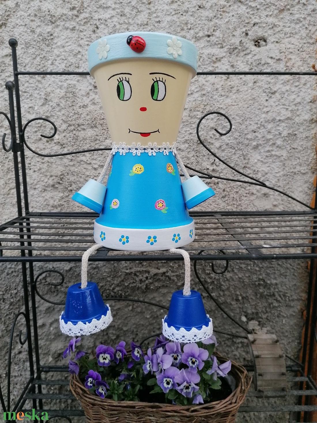 Cserép baba virágtartó  - Meska.hu
