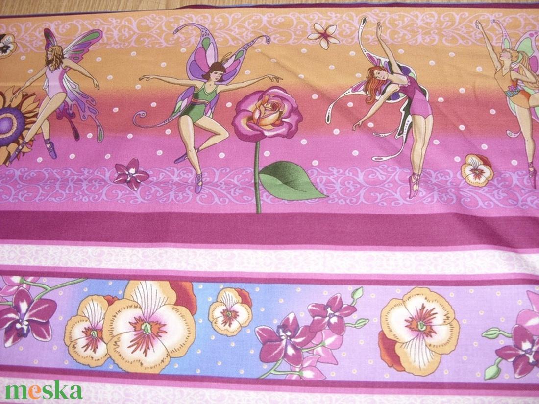 Virágtündérek blokk bordűr USA egyedi Design textil:o)  60 x 28 cm minőségi textil  USA design  - textil - pamut - Meska.hu