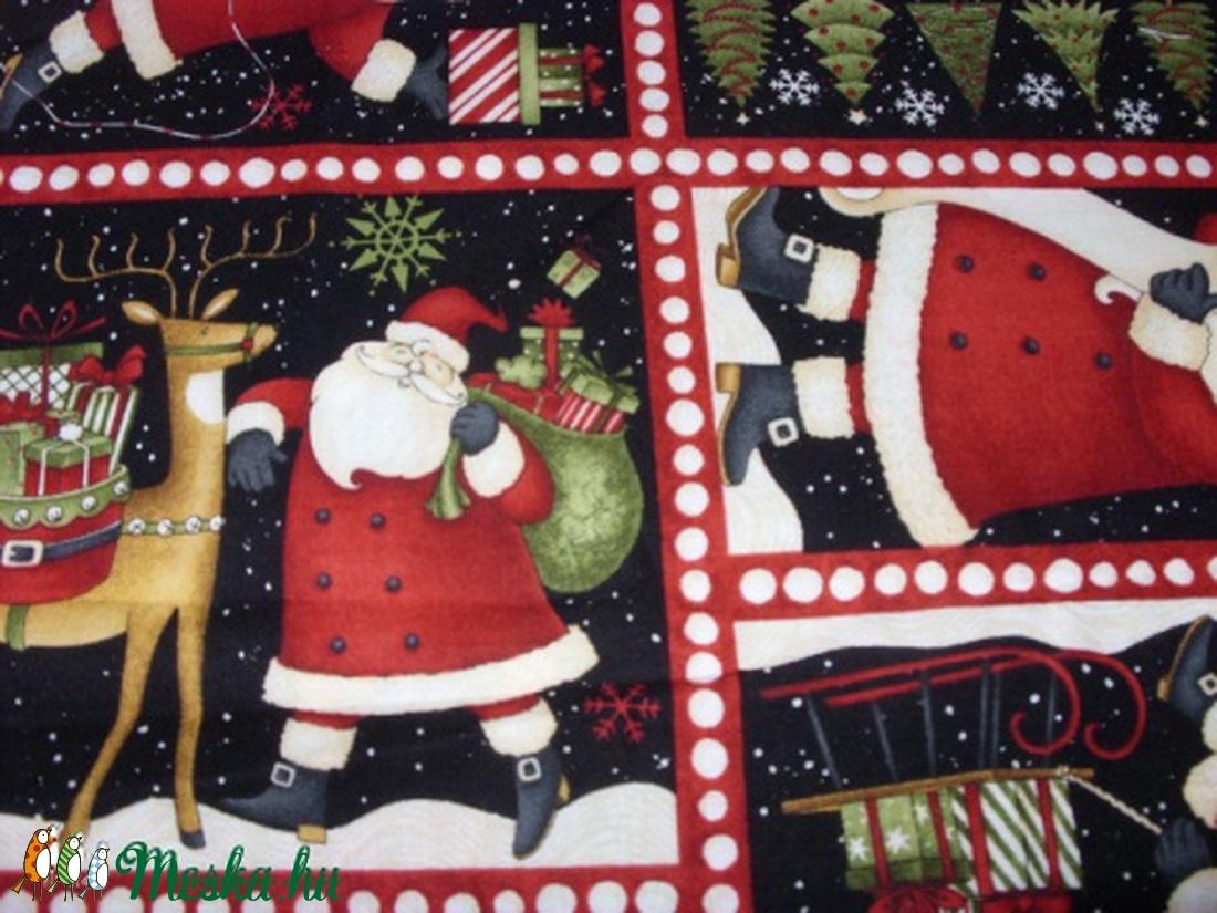 8 télapós blokkos karácsonyi USA design minőségi textil:  50 x 30 cm  - textil - pamut - Meska.hu