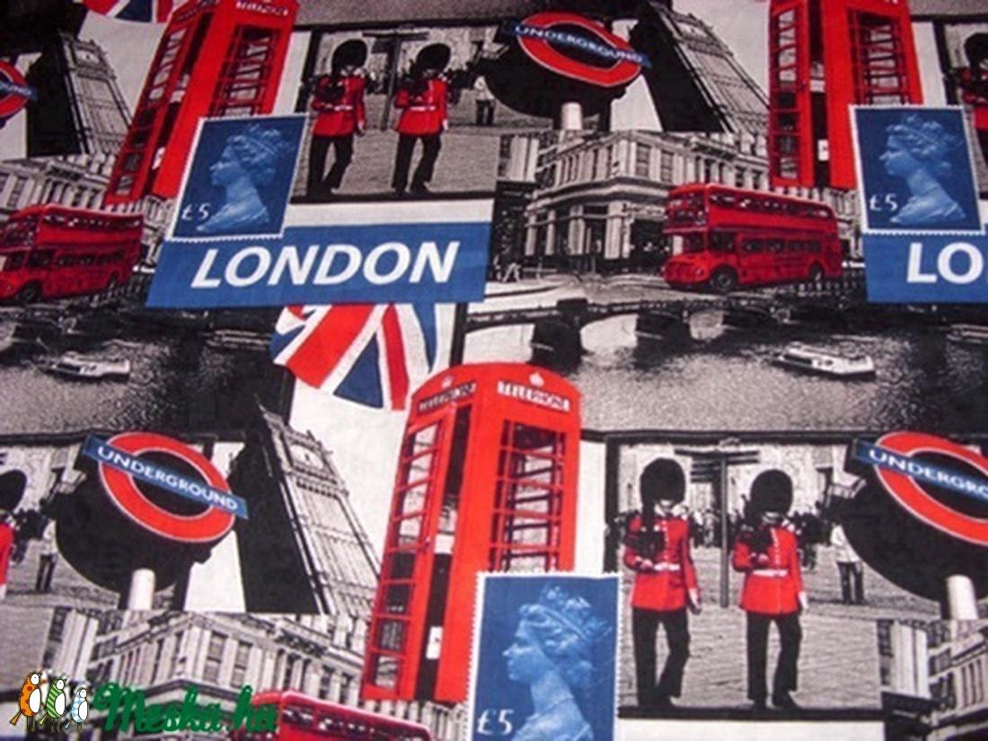 NEW YORK - LONDON - PÁRIZS montázs  patchwork holland design textil 75 x 30 cm minőségi  USA design  - textil - pamut - Meska.hu