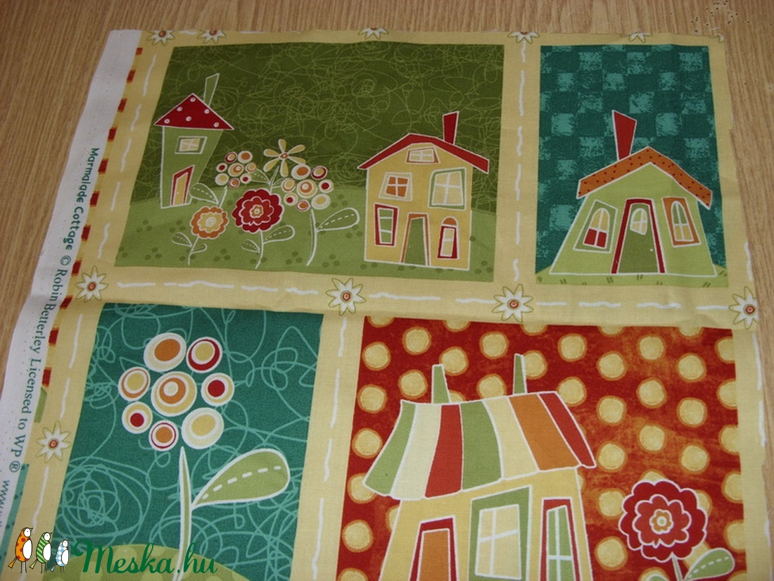 4 db-os házikós blokk több féle minőségi USA egyedi Design textil:o)  32 x 131 cm  - textil - pamut - Meska.hu