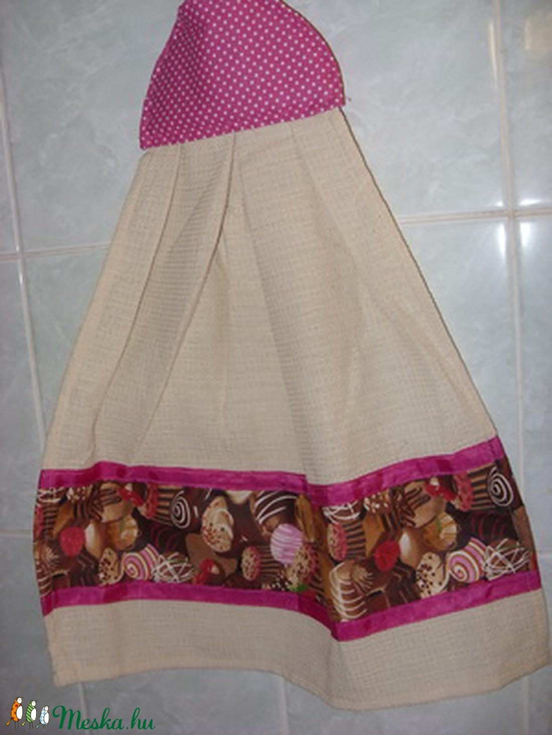 Különleges kombó törlő bon-bon design textil díszítéssel 3 színben - otthon & lakás - konyhafelszerelés - konyharuha & törlőkendő - Meska.hu