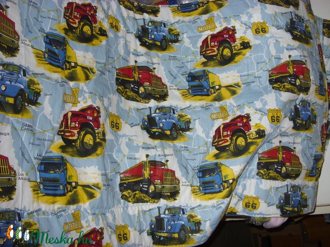 Falikép Falvédő Pacikás, kamionos, autós 100% design pamut 200 x 75 cm - otthon & lakás - lakástextil - falvédő - Meska.hu