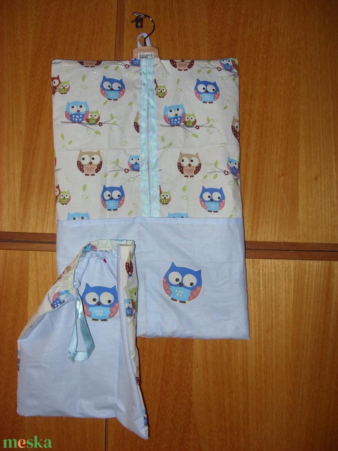 2 db-os csupa bagoly és sok más ovis ruha- és tornazsák szett   100% design pamut - játék & gyerek - Meska.hu