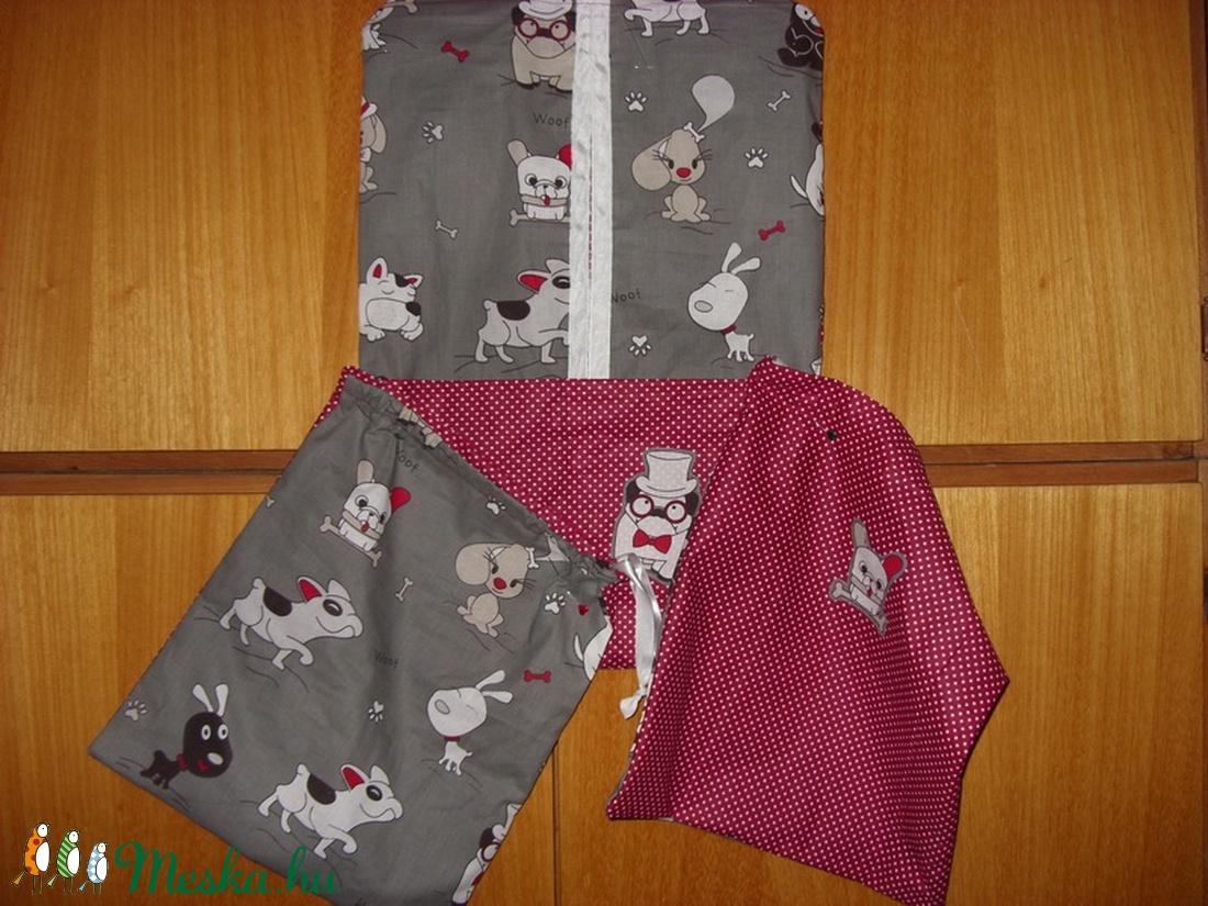 3 db-os  vállfás ovis ruha, torna, és tisztasági zsák - csajos és fiús 100% pamut - sok minta - ovi- és sulikezdés - ovis zsák & ovis szett - ovis tornazsák - Meska.hu