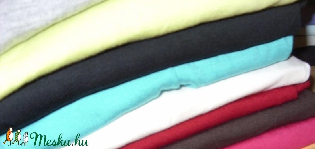 5 színben extra rugalmas viszkóz jersey  160 cm széles - textil - bársony - Meska.hu