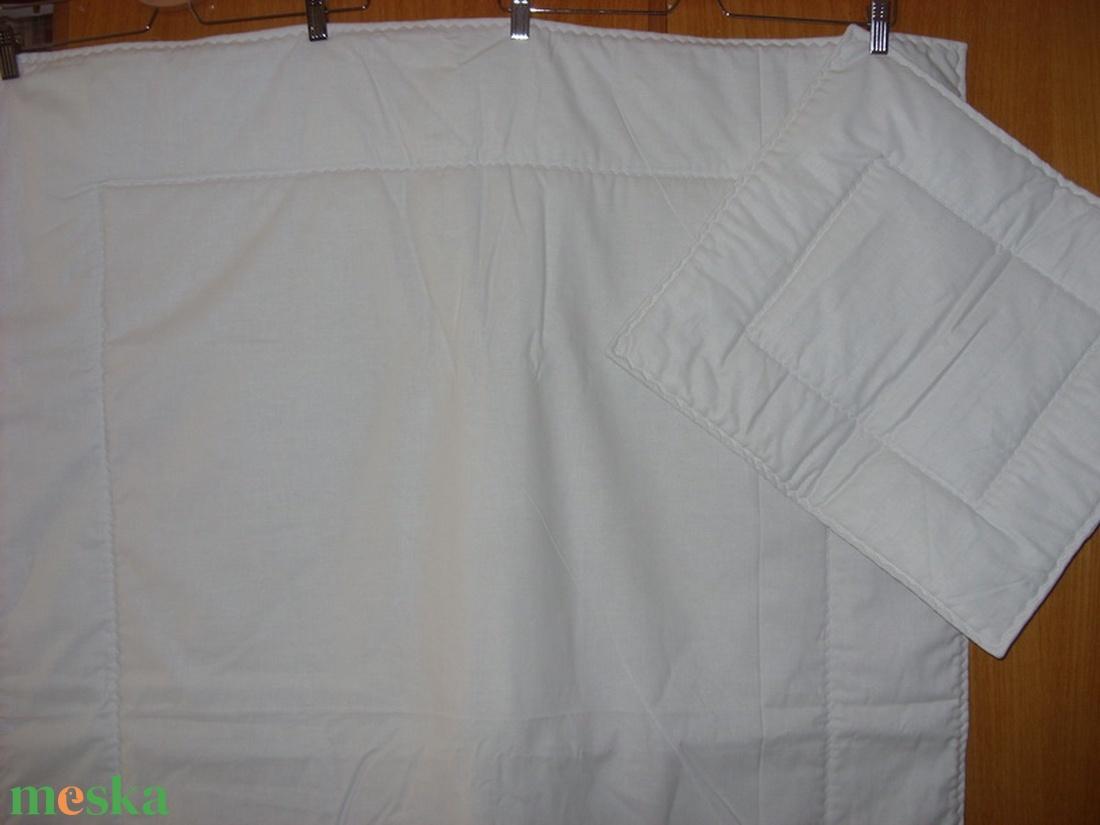 100% pamut fehér - ovis méretű bélelt, steppelt gyerek belső ágynemű szett  - játék & gyerek - Meska.hu