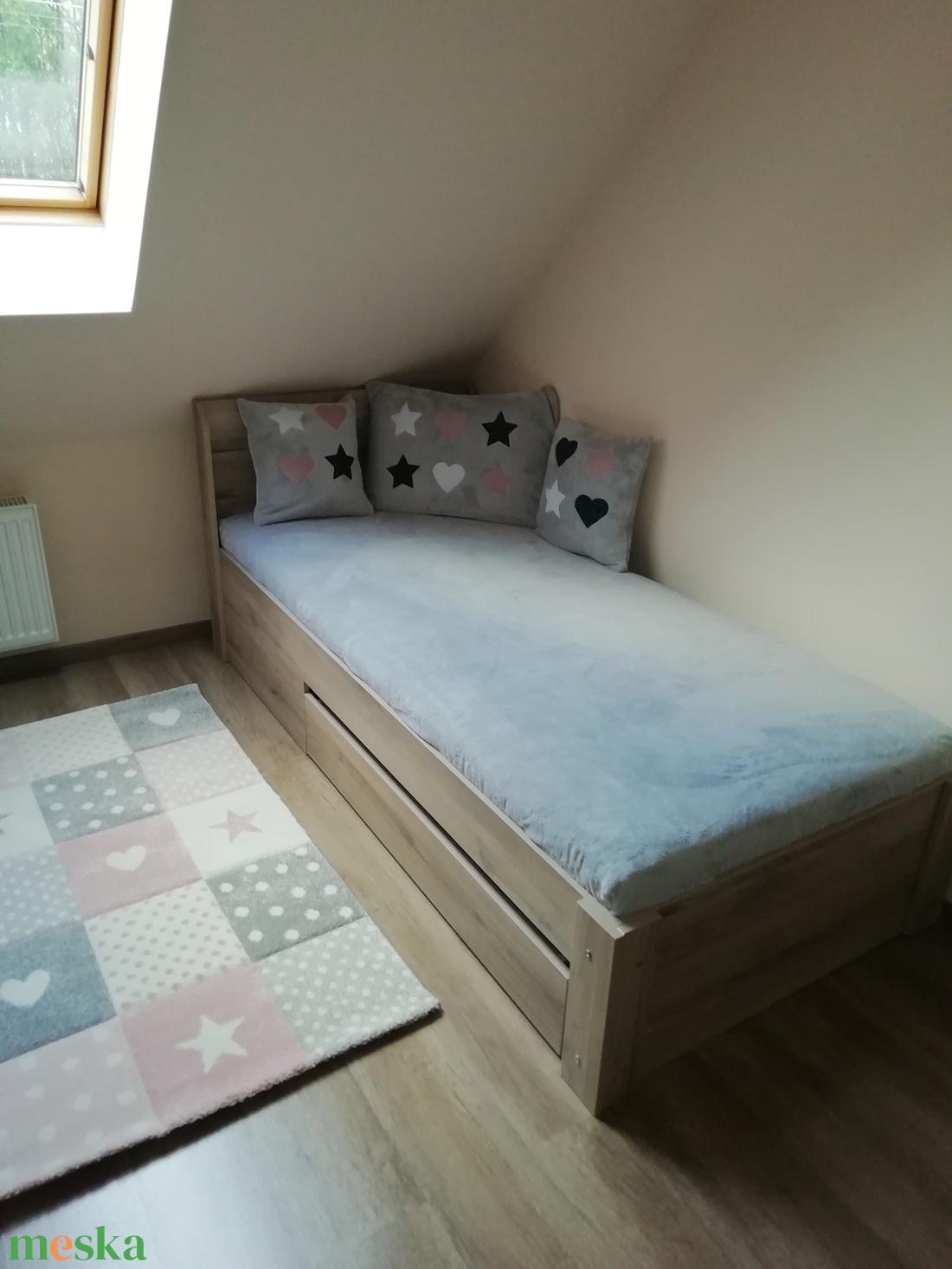 Ágytakaró - Praktikus, matracra ráfeszülős  körben gumis wellsoft ágytakaró - otthon & lakás - lakástextil - takaró - Meska.hu