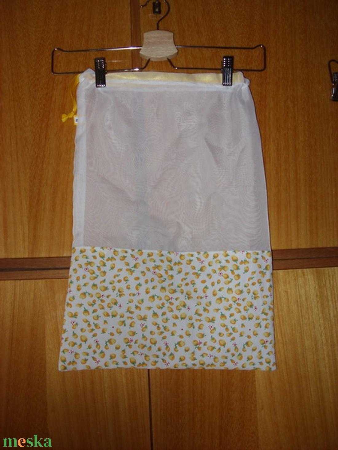 Gyümölcsös zsák, újra használható, mosható Zöldülj Te is - táska & tok - bevásárlás & shopper táska - zöldség/gyümölcs zsák - Meska.hu