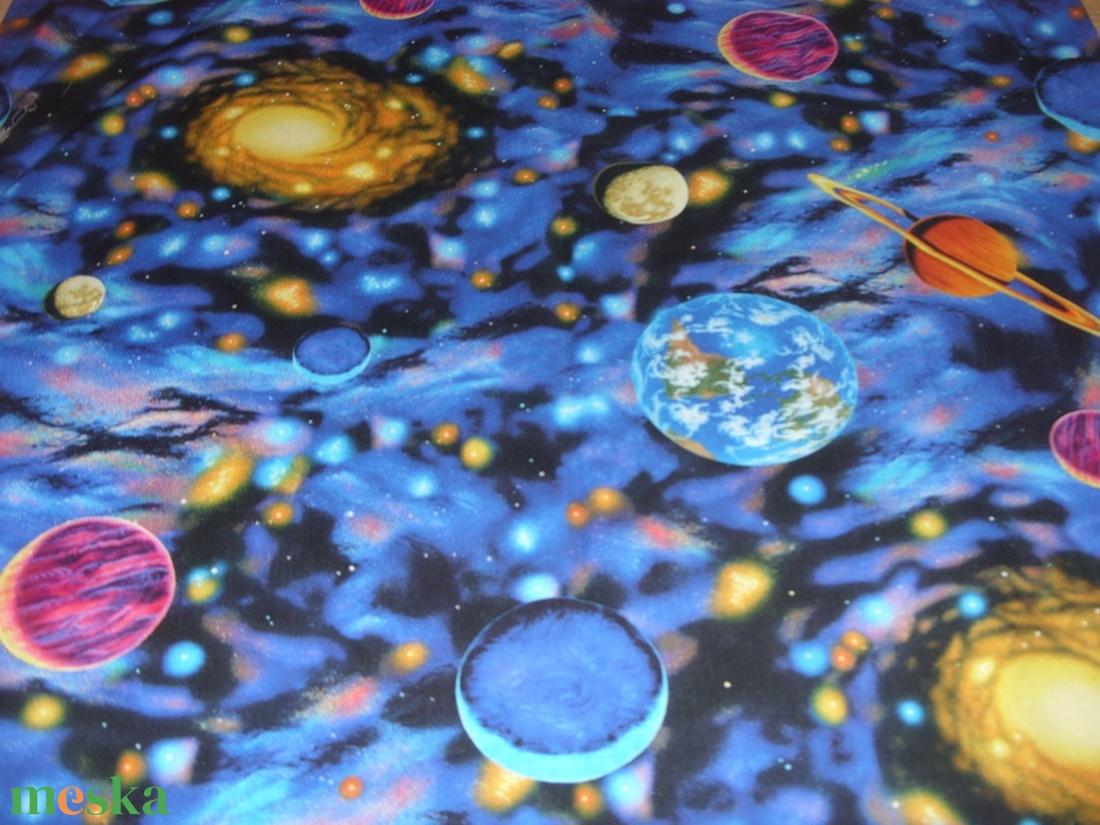 ŰR és BOLYGÓ MINTÁS, USA design textilek - 4 féle - textil - vászon - Meska.hu