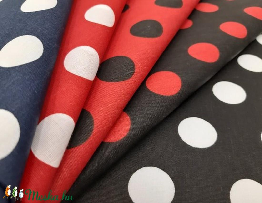 Pöttyösök  -Sok-sok színben - 100% pamut  textilek - textil - pamut - Meska.hu