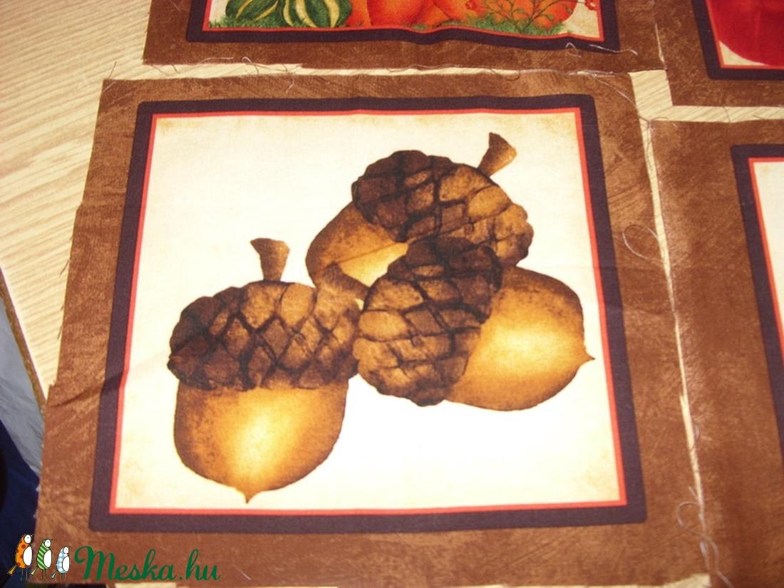 7  blokkos őszi hangulat - sütőtökös is USA design minőségi textil:  20 x 20 cm - textil - pamut - Meska.hu