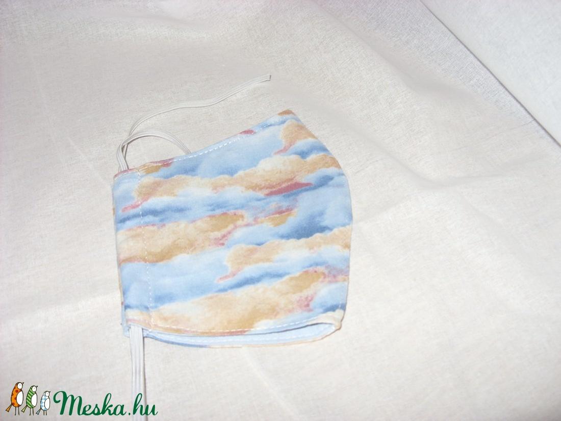 Felhő mintás, naplemente mintás maszk - arcmaszk - szájmaszk  Limitált darabszám - maszk, arcmaszk - Meska.hu