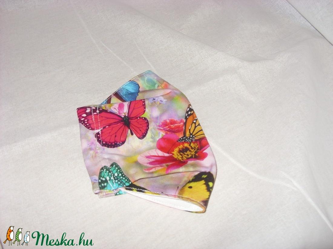 Egyedi darab - pillangó mintás  maszk - arcmaszk - szájmaszk  Limitált darabszám - maszk, arcmaszk - Meska.hu