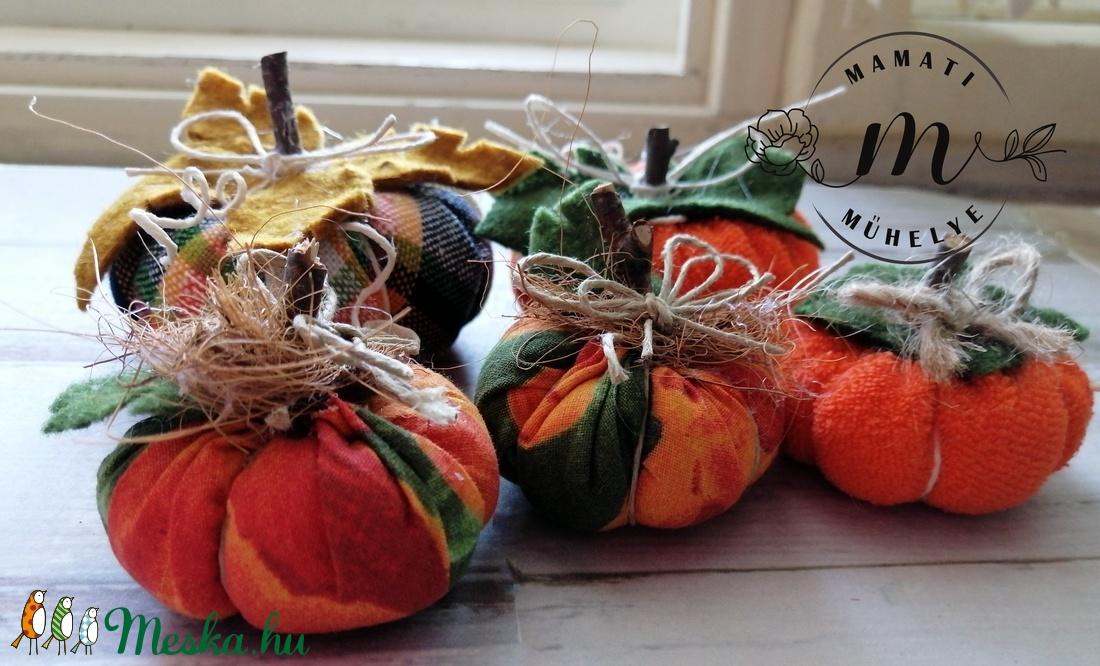 Vidám őszi dísztök dekorációs csomag 5 db, hallowen tök, őszi dekoráció - otthon & lakás - dekoráció - asztaldísz - Meska.hu