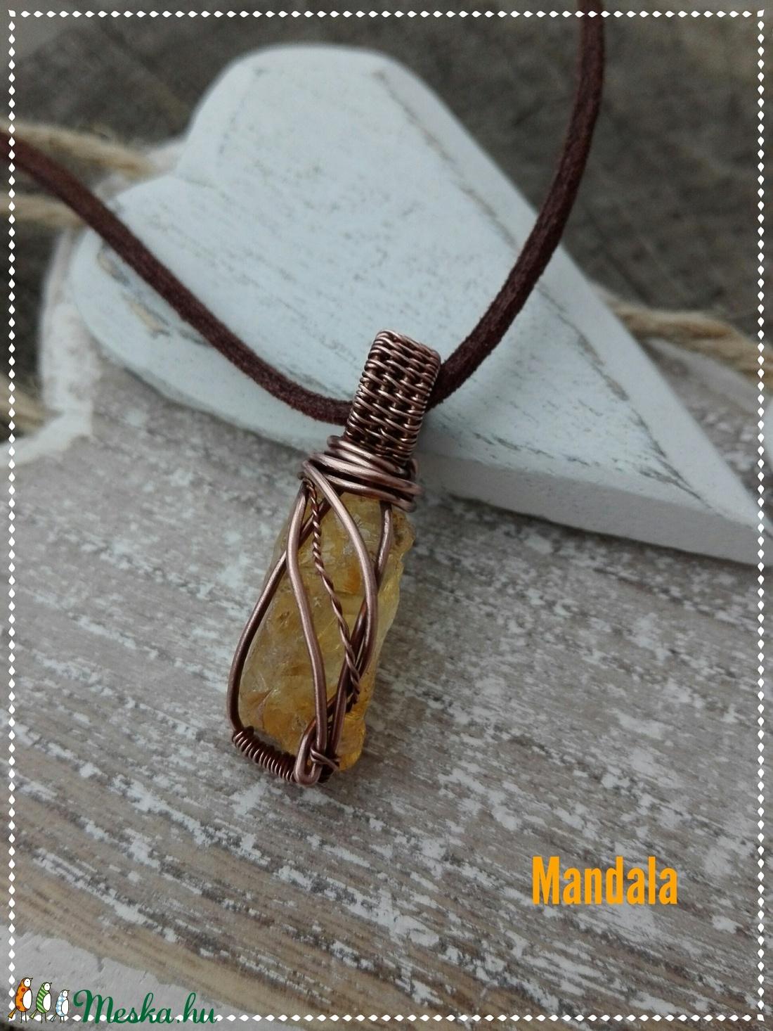 Citrin réz nyaklánc (Mandaladrotekszer) - Meska.hu